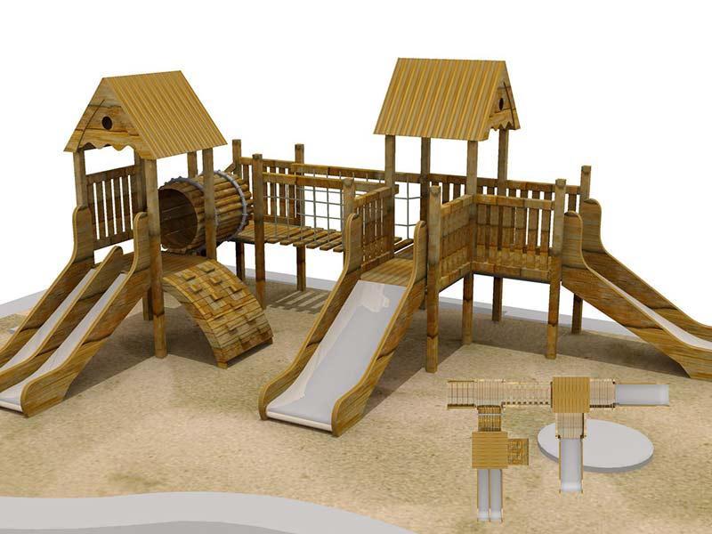 木质滑梯2